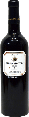 23,95 € Free Shipping | Red wine Bodegas Riojanas Gran Albina Reserva D.O.Ca. Rioja The Rioja Spain Tempranillo, Graciano, Mazuelo Bottle 75 cl