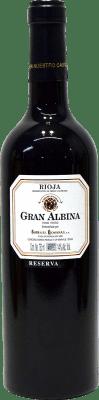 29,95 € Kostenloser Versand | Rotwein Bodegas Riojanas Gran Albina Reserva D.O.Ca. Rioja La Rioja Spanien Tempranillo, Graciano, Mazuelo Flasche 75 cl