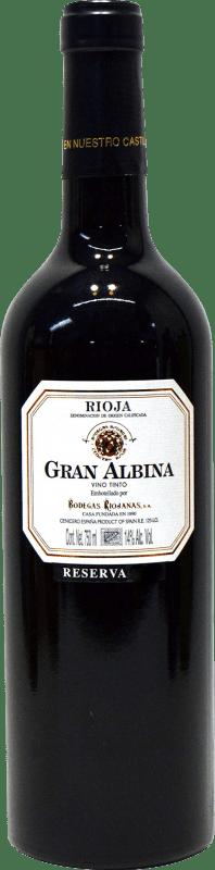 29,95 € Free Shipping | Red wine Bodegas Riojanas Gran Albina Reserva D.O.Ca. Rioja The Rioja Spain Tempranillo, Graciano, Mazuelo Bottle 75 cl