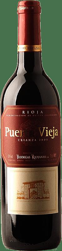 5,95 € Envío gratis | Vino tinto Bodegas Riojanas Puerta Vieja Crianza D.O.Ca. Rioja La Rioja España Tempranillo, Graciano, Mazuelo Botella 75 cl