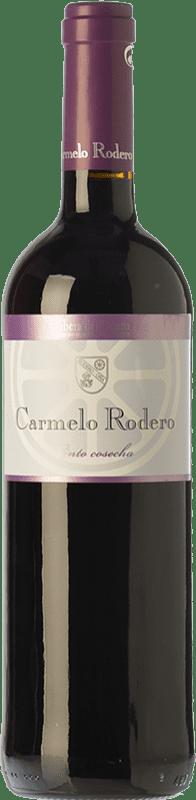 7,95 € Free Shipping | Red wine Carmelo Rodero Cosecha Joven D.O. Ribera del Duero Castilla y León Spain Tempranillo Bottle 75 cl