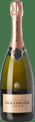 56,95 € Envio grátis | Espumante rosé Bollinger Rosé Brut Reserva A.O.C. Champagne Champagne França Pinot Preto, Chardonnay, Pinot Meunier Garrafa 75 cl