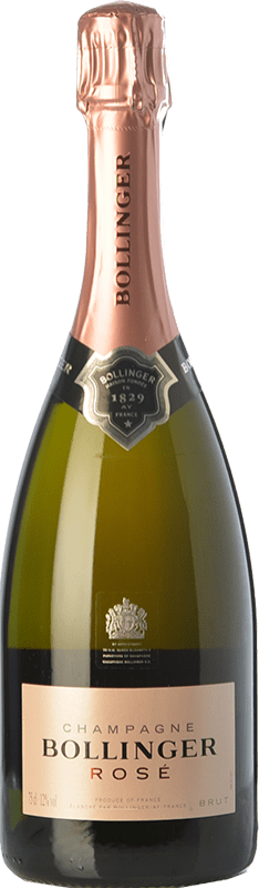 63,95 € Free Shipping | Rosé sparkling Bollinger Rosé Brut Reserva A.O.C. Champagne Champagne France Pinot Black, Chardonnay, Pinot Meunier Bottle 75 cl