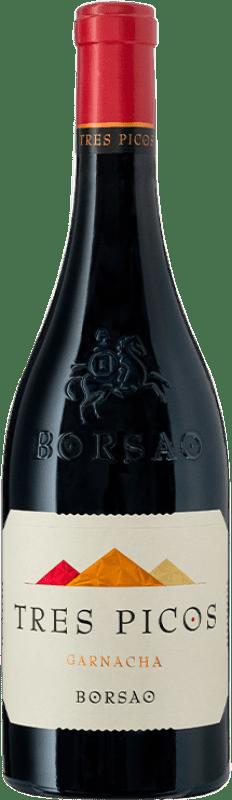 15,95 € Envío gratis | Vino tinto Borsao Tres Picos Joven D.O. Campo de Borja Aragón España Garnacha Botella 75 cl