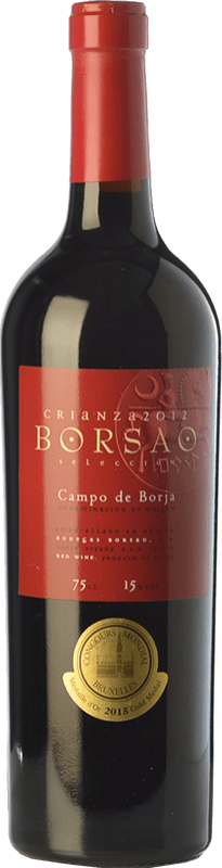 8,95 € Free Shipping | Red wine Borsao Crianza D.O. Campo de Borja Aragon Spain Tempranillo, Merlot, Grenache Bottle 75 cl