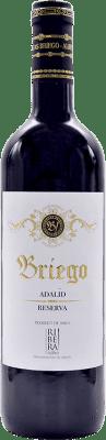 18,95 € Kostenloser Versand | Rotwein Briego Adalid Reserva D.O. Ribera del Duero Kastilien und León Spanien Tempranillo Flasche 75 cl