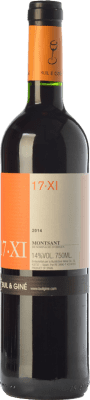 12,95 € Free Shipping | Red wine Buil & Giné 17.XI Joven D.O. Montsant Catalonia Spain Tempranillo, Grenache, Carignan Bottle 75 cl