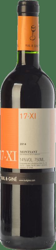 9,95 € Envoi gratuit   Vin rouge Buil & Giné 17.XI Joven D.O. Montsant Catalogne Espagne Tempranillo, Grenache, Carignan Bouteille 75 cl