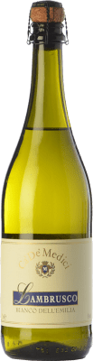 5,95 € Free Shipping | White sparkling Ca' De' Medici Lambrusco Bianco Joven I.G.T. Emilia Romagna Emilia-Romagna Italy Lambrusco Maestri, Lambrusco Salamino, Lambrusco Marani, Lambrusco Montericco Bottle 75 cl. | Thousands of wine lovers trust us to get the best price guarantee, free shipping always and hassle-free shopping and returns.
