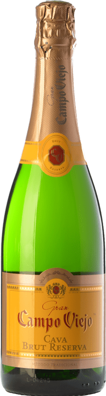 8,95 € 免费送货   白起泡酒 Campo Viejo Gran 香槟 Reserva D.O. Cava 加泰罗尼亚 西班牙 Macabeo, Xarel·lo, Parellada 瓶子 75 cl