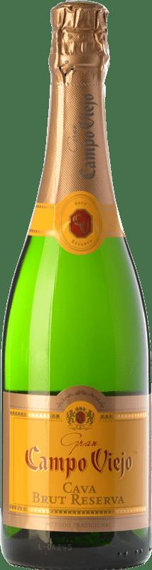 8,95 € Free Shipping | White sparkling Campo Viejo Gran Brut Reserva D.O. Cava Catalonia Spain Macabeo, Xarel·lo, Parellada Bottle 75 cl