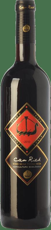 9,95 € Free Shipping | Red wine Can Rich Roble I.G.P. Vi de la Terra de Ibiza Balearic Islands Spain Tempranillo, Merlot Bottle 75 cl