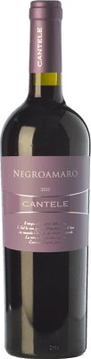 11,95 € Free Shipping | Red wine Cantele I.G.T. Salento Campania Italy Negroamaro Bottle 75 cl