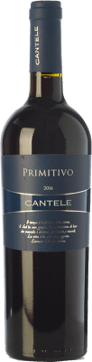 11,95 € Free Shipping | Red wine Cantele I.G.T. Salento Campania Italy Primitivo Bottle 75 cl