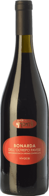 7,95 € Free Shipping | Red sparkling Cantina Storica di Montù Beccaria Bonarda Frizzante D.O.C. Oltrepò Pavese Lombardia Italy Croatina Bottle 75 cl