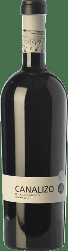 28,95 € Envío gratis | Vino tinto Carchelo Canalizo Crianza D.O. Jumilla Castilla la Mancha España Tempranillo, Syrah, Monastrell Botella 75 cl