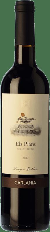 18,95 € Free Shipping | Red wine Carlania Els Corrals Crianza D.O. Conca de Barberà Catalonia Spain Merlot, Trepat Bottle 75 cl