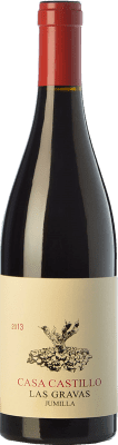 24,95 € Kostenloser Versand | Rotwein Casa Castillo Las Gravas Crianza D.O. Jumilla Kastilien-La Mancha Spanien Syrah, Cabernet Sauvignon, Monastrell Flasche 75 cl