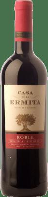 5,95 € Envío gratis | Vino tinto Casa de la Ermita Roble D.O. Jumilla Castilla la Mancha España Monastrell, Petit Verdot Botella 75 cl
