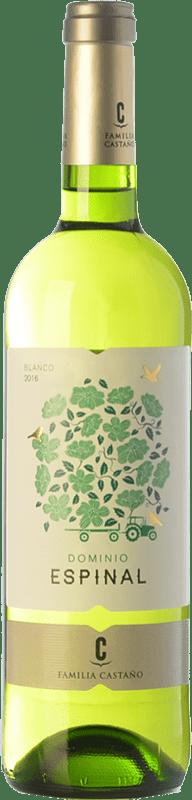 5,95 € Envoi gratuit | Vin blanc Castaño Dominio de Espinal Joven D.O. Yecla Région de Murcie Espagne Macabeo Bouteille 75 cl