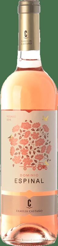 4,95 € Envío gratis | Vino rosado Castaño Dominio de Espinal Joven D.O. Yecla Región de Murcia España Macabeo Botella 75 cl