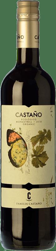 7,95 € Free Shipping | Red wine Castaño Ecológico Joven D.O. Yecla Region of Murcia Spain Monastrell Bottle 75 cl