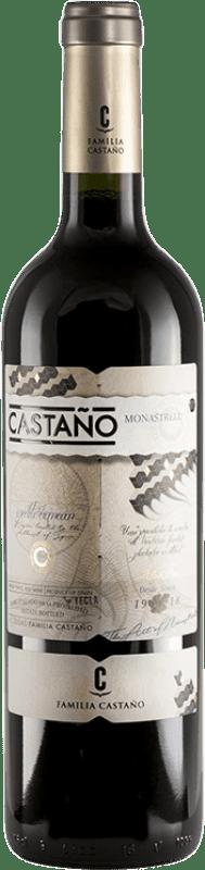 7,95 € Free Shipping | Red wine Castaño Joven D.O. Yecla Region of Murcia Spain Monastrell Bottle 75 cl