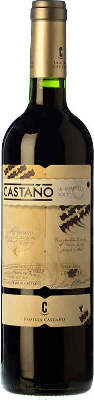 6,95 € Envío gratis | Vino tinto Castaño Joven D.O. Yecla Región de Murcia España Monastrell Botella 75 cl
