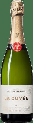 9,95 € Kostenloser Versand | Weißer Sekt Castell del Remei Brut Natur Joven D.O. Cava Katalonien Spanien Macabeo, Xarel·lo, Chardonnay, Parellada Flasche 75 cl