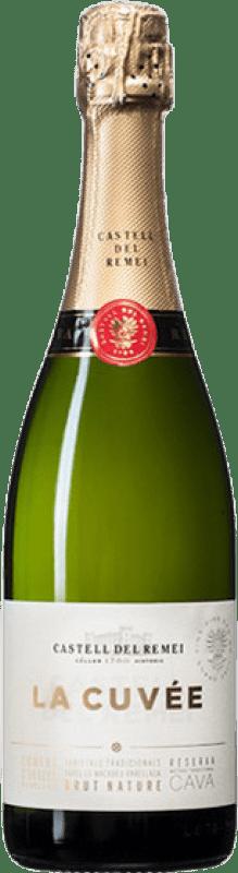 9,95 € 免费送货   白起泡酒 Castell del Remei Brut Nature Joven D.O. Cava 加泰罗尼亚 西班牙 Macabeo, Xarel·lo, Chardonnay, Parellada 瓶子 75 cl