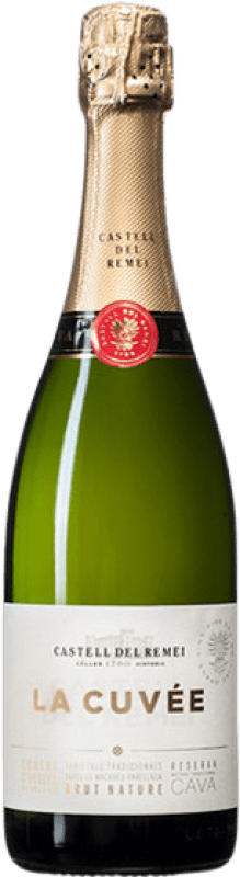9,95 € Free Shipping | White sparkling Castell del Remei Brut Nature Joven D.O. Cava Catalonia Spain Macabeo, Xarel·lo, Chardonnay, Parellada Bottle 75 cl