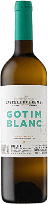 6,95 € Envío gratis | Vino blanco Castell del Remei Gotim Blanc D.O. Costers del Segre Cataluña España Macabeo, Sauvignon Blanca Botella 75 cl