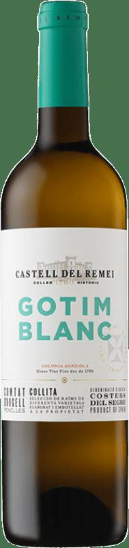7,95 € Free Shipping | White wine Castell del Remei Gotim Blanc D.O. Costers del Segre Catalonia Spain Macabeo, Sauvignon White Bottle 75 cl