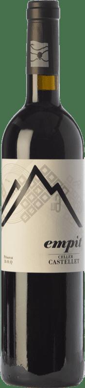 17,95 € Free Shipping | Red wine Castellet Empit Crianza D.O.Ca. Priorat Catalonia Spain Grenache, Cabernet Sauvignon, Carignan, Grenache Hairy Bottle 75 cl