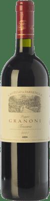 26,95 € Free Shipping | Red wine Castello di Farnetella Poggio Granoni I.G.T. Toscana Tuscany Italy Merlot, Syrah, Cabernet Sauvignon, Sangiovese Bottle 75 cl
