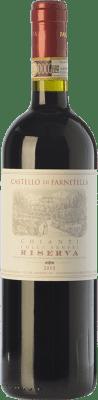 11,95 € Envío gratis | Vino tinto Castello di Farnetella Riserva Reserva D.O.C.G. Chianti Toscana Italia Merlot, Cabernet Sauvignon, Sangiovese Botella 75 cl