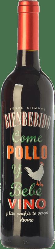 4,95 € Free Shipping | Red wine Castillo de Maetierra Come Pollo y Bebe Vino Joven I.G.P. Vino de la Tierra Ribera del Queiles Aragon Spain Grenache Bottle 75 cl