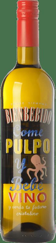 6,95 € Free Shipping | White wine Castillo de Maetierra Come Pulpo y Bebe Vino D.O.Ca. Rioja The Rioja Spain Albariño Bottle 75 cl