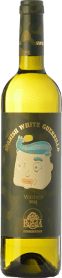 6,95 € Free Shipping | White wine Castillo de Maetierra Spanish White Guerrilla Joven I.G.P. Vino de la Tierra Valles de Sadacia The Rioja Spain Verdejo Bottle 75 cl