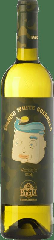 4,95 € Envío gratis   Vino blanco Castillo de Maetierra Spanish White Guerrilla Joven I.G.P. Vino de la Tierra Valles de Sadacia La Rioja España Verdejo Botella 75 cl