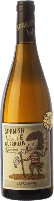8,95 € Free Shipping | White wine Castillo de Maetierra Spanish White Guerrilla I.G.P. Vino de la Tierra Valles de Sadacia The Rioja Spain Chardonnay Bottle 75 cl