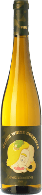8,95 € Free Shipping | White wine Castillo de Maetierra Spanish White Guerrilla I.G.P. Vino de la Tierra Valles de Sadacia The Rioja Spain Gewürztraminer Bottle 75 cl