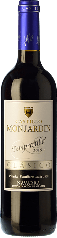 6,95 € Free Shipping | Red wine Castillo de Monjardín Joven D.O. Navarra Navarre Spain Tempranillo Bottle 75 cl