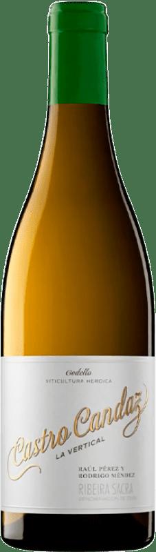 22,95 € Envío gratis | Vino blanco Castro Candaz La Vertical Crianza D.O. Ribeira Sacra Galicia España Godello Botella 75 cl