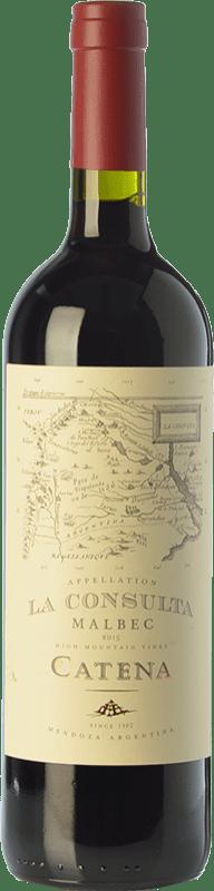 15,95 € Envío gratis | Vino tinto Catena Zapata La Consulta Reserva I.G. Valle de Uco Valle de Uco Argentina Malbec Botella 75 cl