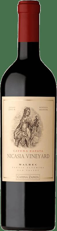 82,95 € Envío gratis | Vino tinto Catena Zapata Nicasia Vineyard Crianza I.G. Mendoza Mendoza Argentina Malbec Botella 75 cl