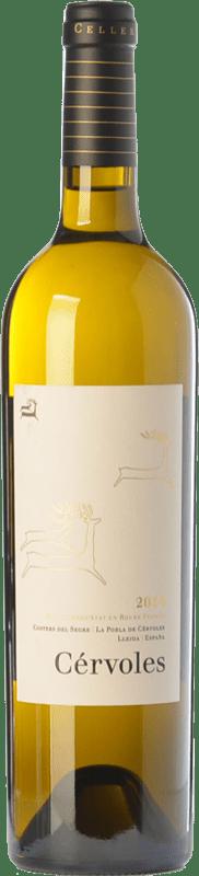 52,95 € Envío gratis | Vino blanco Cérvoles Blanc Crianza D.O. Costers del Segre Cataluña España Macabeo, Chardonnay Botella Mágnum 1,5 L