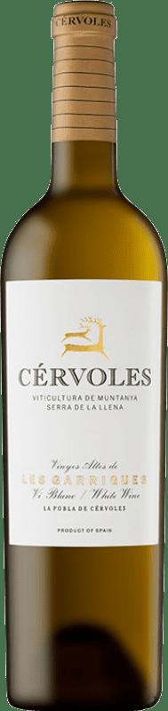 24,95 € Free Shipping | White wine Cérvoles Blanc Crianza D.O. Costers del Segre Catalonia Spain Macabeo, Chardonnay Bottle 75 cl
