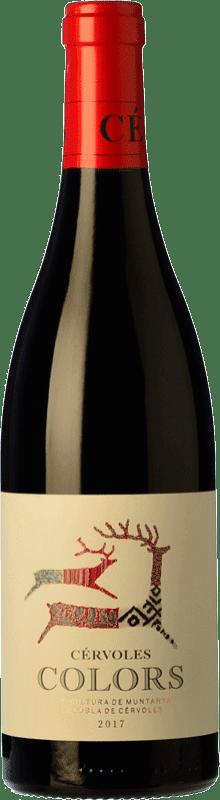 11,95 € Envío gratis | Vino tinto Cérvoles Colors Joven D.O. Costers del Segre Cataluña España Tempranillo, Merlot, Syrah, Garnacha, Cabernet Sauvignon Botella 75 cl