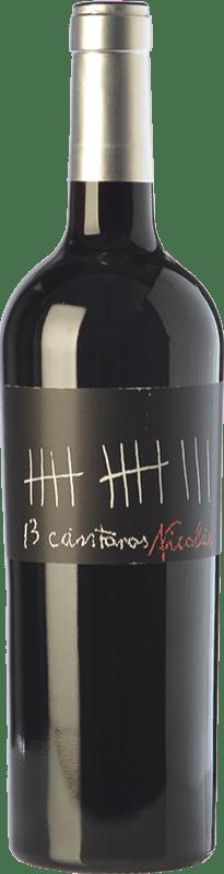 8,95 € Envío gratis | Vino tinto César Príncipe 13 Cántaros Nicolás Joven D.O. Cigales Castilla y León España Tempranillo Botella 75 cl